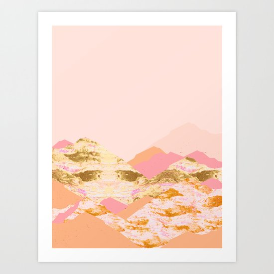 Graphic Mountains S Art Print
