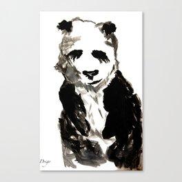 Water Panda Canvas Print