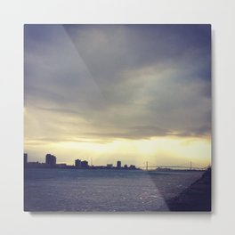 Detroit: Ambassador Bridge Metal Print