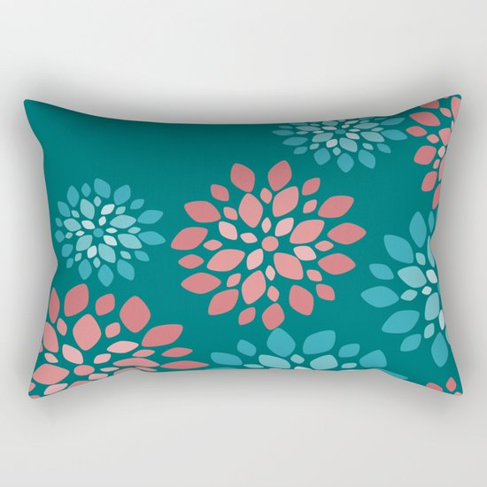 Flower Flurries Rectangular Pillow