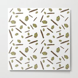 Blunts n Nugs Allover Print Metal Print