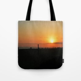 sunset lv Tote Bag