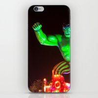 hulk iPhone & iPod Skins featuring Hulk by Roser Arques