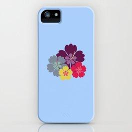 Colourful hibiskus flowers iPhone Case