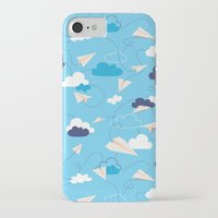 airplanes iPhone & iPod Cases featuring Paper Airplanes by Polita