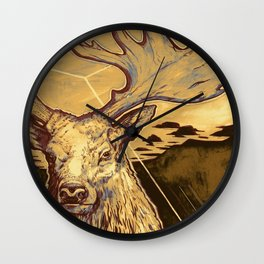Stag Dimension of Dust Wall Clock