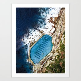Bronte Baths Sydney  Art Print