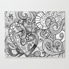 octupi heart Canvas Print