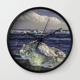Jokulsarlon Lagoon Beach 04  Wall Clock