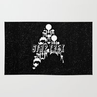 ships Area & Throw Rugs featuring Ships Trek by Ran Doom