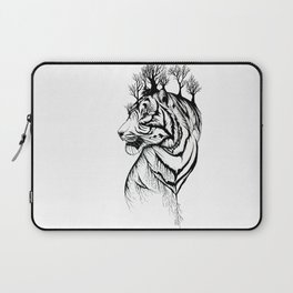 Lady Tiger in the Trees Laptop Sleeve