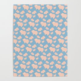 Paper Pigs (Patterns Please) Poster