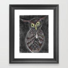 Stylized Owl (Darkened Version) Framed Art Print