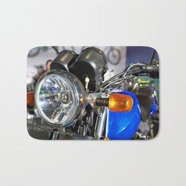 Headlight of road motorcycle bike classic Bath Mat