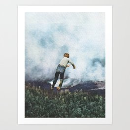 Into the Clouds Art Print