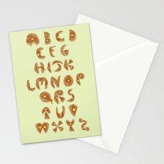Pancake Alphabet Stationery Cards