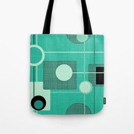 Orbs and Squares (aqua) Tote Bag