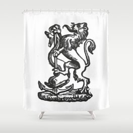 Anchor and rampant lion. Shower Curtain