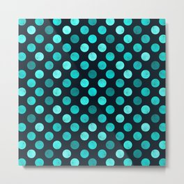 Watercolor Dots Pattern IV Metal Print