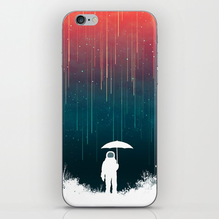 Meteoric rainfall iPhone Skin