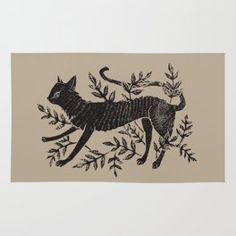 Cat in Vines Rug