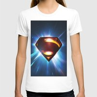 man of steel T-shirts featuring Man of Steel Logo by taylorwayne93