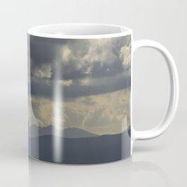 Sunrays through the mountains.  Alhama Natural Park. Coffee Mug