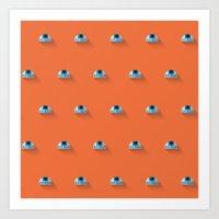 R2D2 Episode VII Flat Design Mosaic Art Print