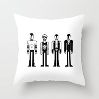 misfits Throw Pillows featuring Misfits by Band Land