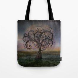 Golden Spiral Tree #3 Tote Bag