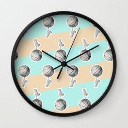 Spin a basketball Wall Clock