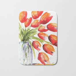 Tulips Overflowing Bath Mat