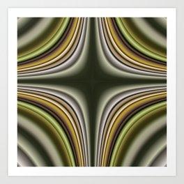 Fractal Cross in CMR 01 Art Print