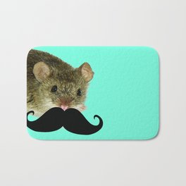 moustache Bath Mat