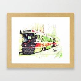 501 Street car Framed Art Print