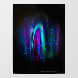 Vegas Water Fountain Poster