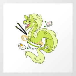 Ramen Noodles Art Print