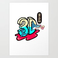 3d Art Prints featuring ' 3D ' by Philip Morgan