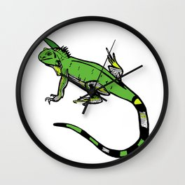 Rainforest Collection - Iguana Wall Clock
