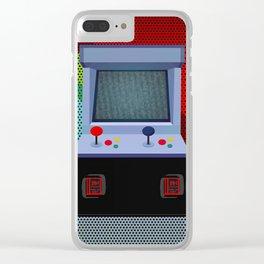 Retro Arcade Joystick Video Game Clear iPhone Case