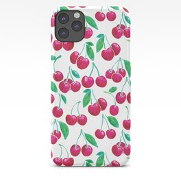 Watercolour Cherries | White Background iPhone Case
