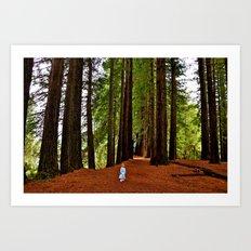 Girl in the Woods Art Print