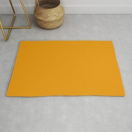 Colors of Autumn Honey Golden Yellow Solid Color Rug