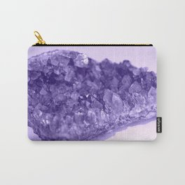 Sparkling Raw Amethyst Carry-All Pouch
