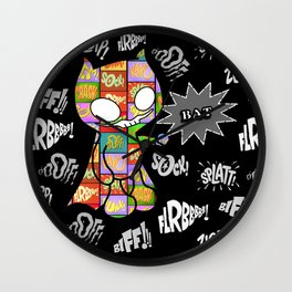 Onomatobat Wall Clock