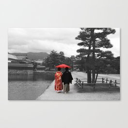 Getting married Matsumoto  Japan Canvas Print