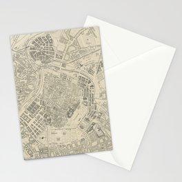 Vintage Map of Vienna Austria (1877) Stationery Cards