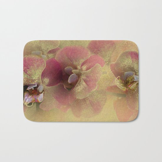 The mystery of orchid(gold). Bath Mat