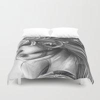 asian Duvet Covers featuring Asian Filigree by leonmorley