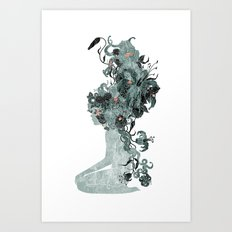 Freya's Hair (Teal) Art Print
